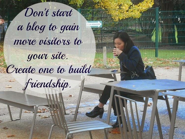 jak pisac bloga poradnik,Nie twórz bloga, by zbudować ruch do Twojej strony, ale po to, by zbudować głębsze relacje z czytelnikiem.