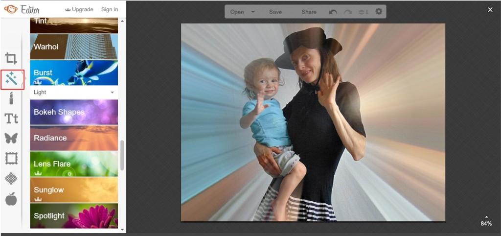jak obrobić zdjęcie na bloga w picmonkey
