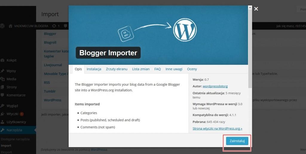 blog wordpress gdzie założyć bloga, przeniesienie bloga z bloggera na wordpress