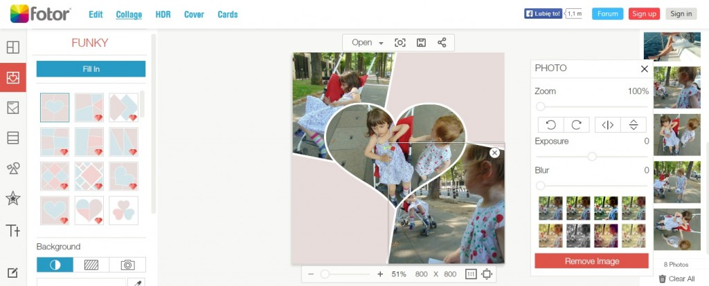 porady blogowe Fotor, jak przygotowac galerie zdjec