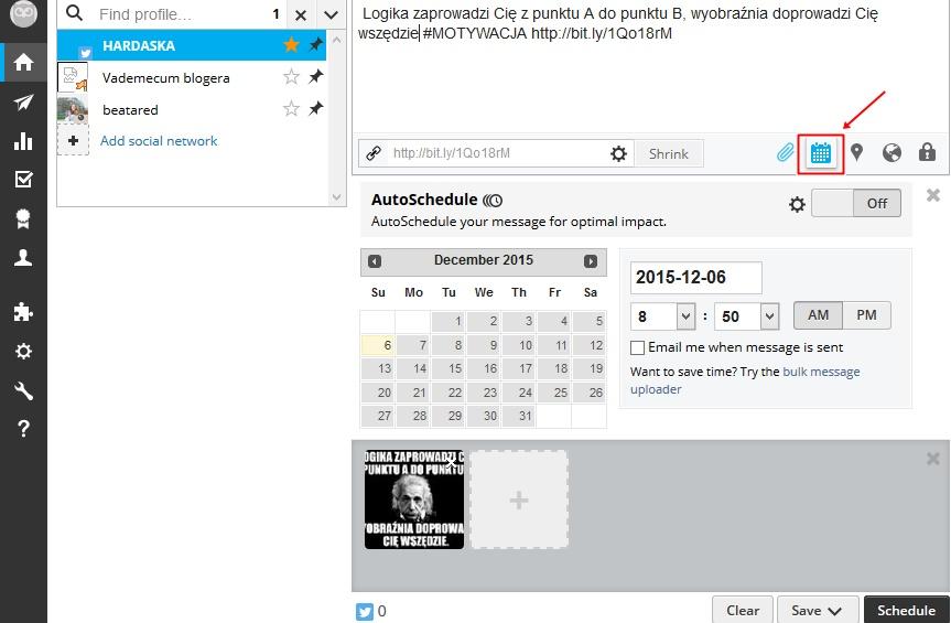 jak działać na twitterze Hootsuite