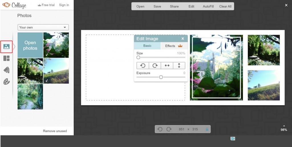 jak zrobić okładkę na fb w PicMonkeyńź