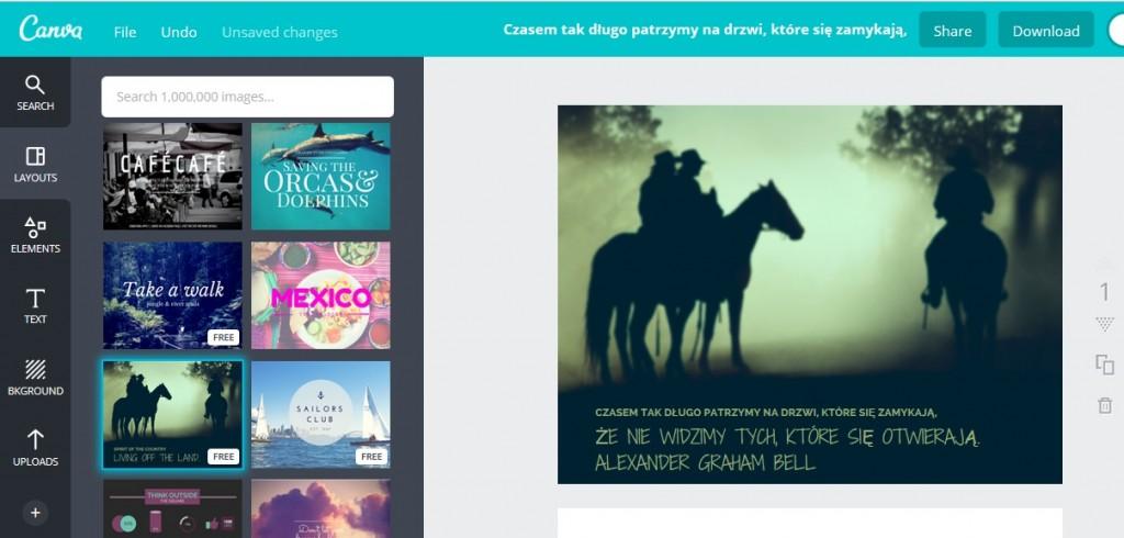 narzędzia do tworzenia ładnych treści na bloga canva