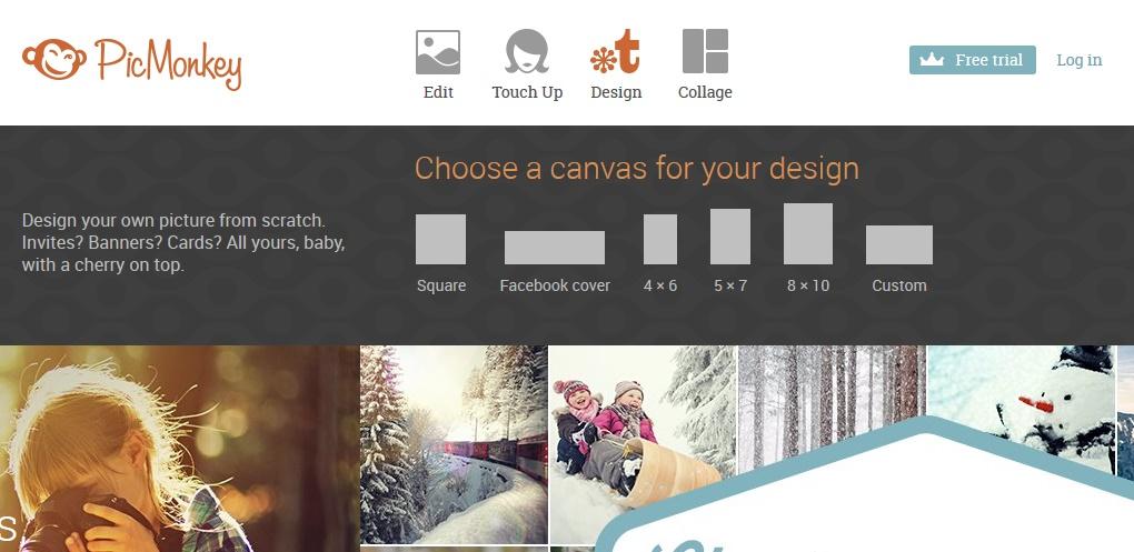 narzędzia do tworzenia ładnych treści na bloga Picmonkey