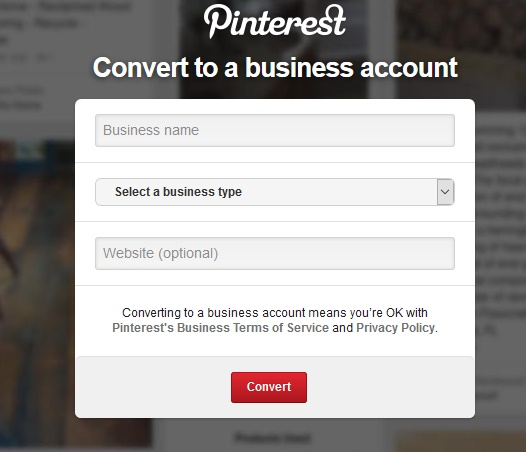 PINTERST BUSSINESS ACCOUNT