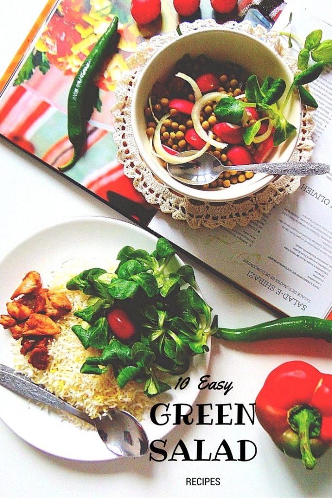 10 Easy Green Salad Recipes. Proste sałatki. Sałatka groszek, rzodkiewka, cebulka. Potrzebne nam będą: pęczek rzodkiewek, miseczka groszku, cebulka, oliwa z oliwek, ocet jabłkowy, odrobina kolendry.