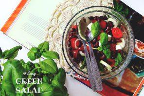 10 przepisów na zielone sałatki plus LINKOWE PARTY.