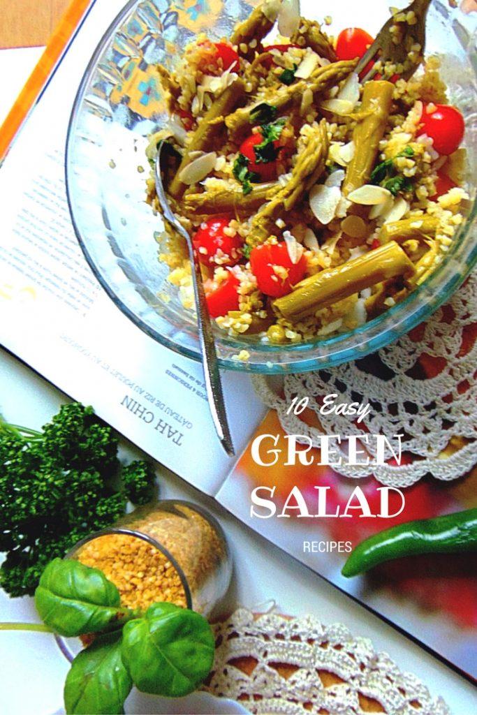 10 Easy Green Salad Recipes. Sałatka z kaszy ze szparagami. Potrzebne nam będą: 150 g kaszy, 3 opakowania zielonych szparagów, kilka listków bazyli, 2 cebulki,10 pomidorków koktajlowych, 1 łyżka poszatkowanych migdałów, 1 łyżka oliwy z oliwek.