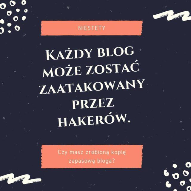 Niestety kady blog moe zosta zaatakowany przez hakerw Zdarza sihellip