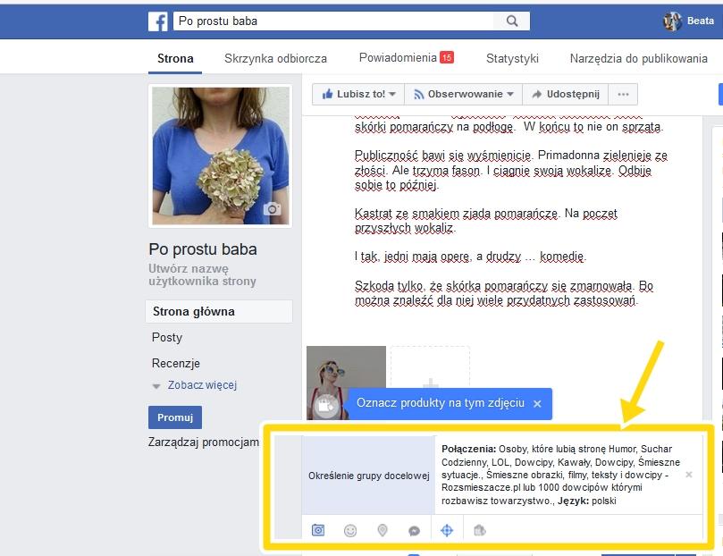 prowadzenie fanpage, reklama na facebooku, promowanie na facebooku,