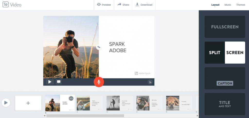 Spark Adobe – kolejne narzędzie do tworzenia nastrojowych filmów, czy clipów.
