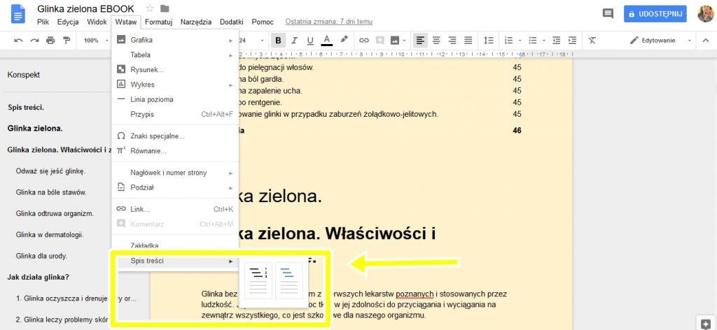 przygotowanie ebooka