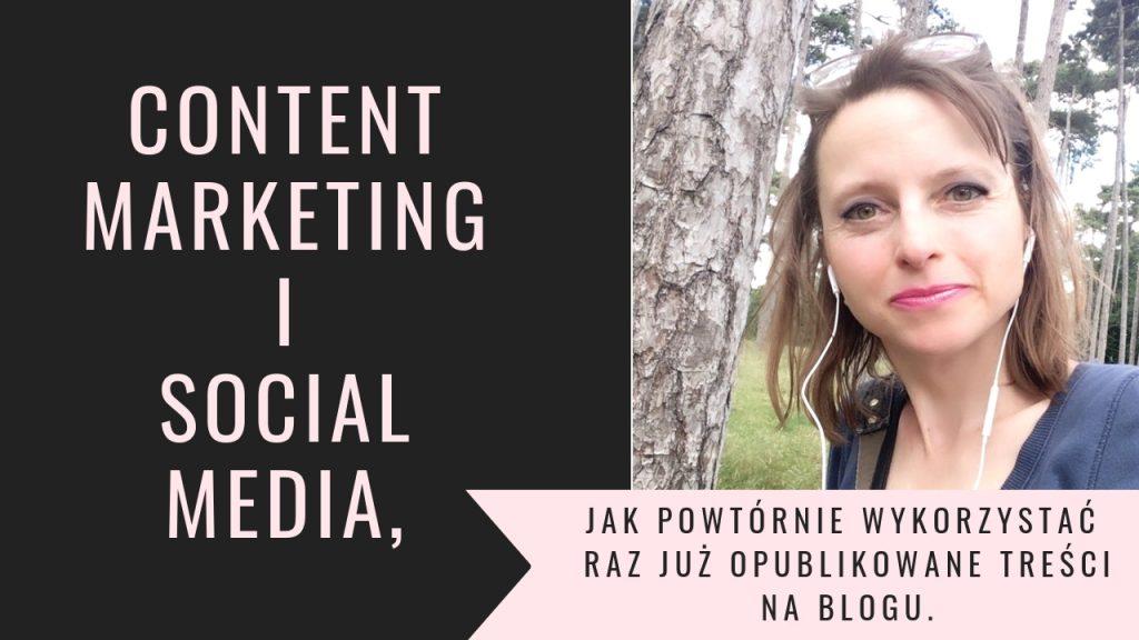 Content marketing i social media, jak powtórnie wykorzystać treści raz już opublikowane na blogu.