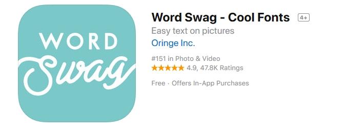 tworzenie grafiki online, grafika social media, aplikacja na telefon word swag