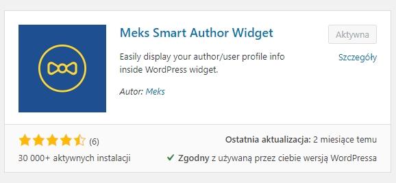 Jak dodać swoje bio - swoją biografię na blogu opartym na wordpressie.