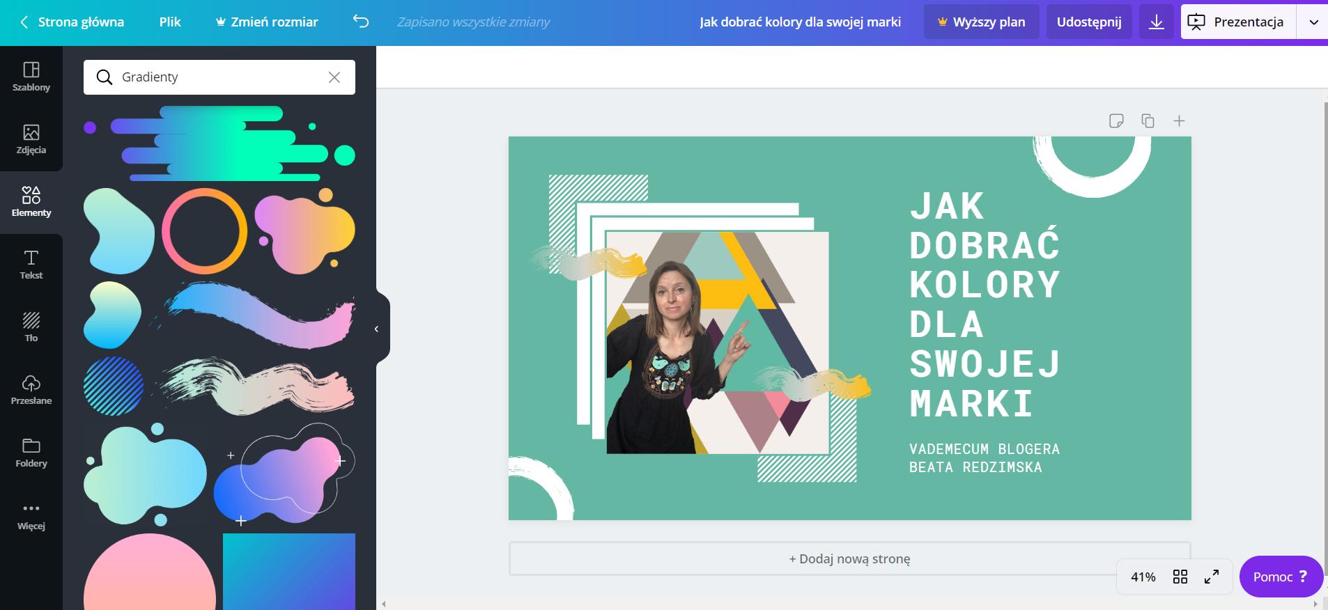 Jak dobrać kolory dla swojej marki w sieci: narzędzie Coolors.