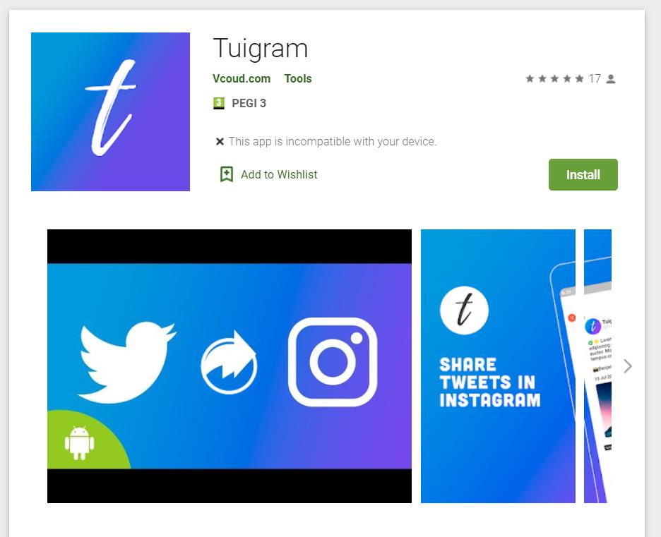 Jak publikować tweety na Instagramie. Aplikacja TUIGRAM.