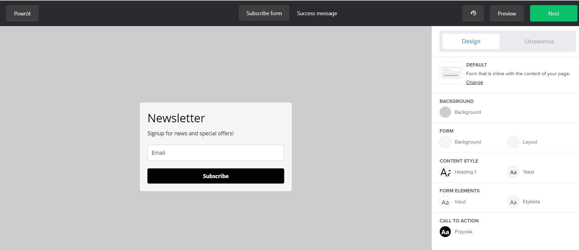 Jak stworzyć formularz zapisu - formularz osadzony w MailerLite.