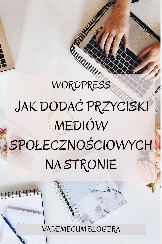JAK DODAC IKONIKI MEDIOW SPOLECZNOSCIOWYCH WordPress –