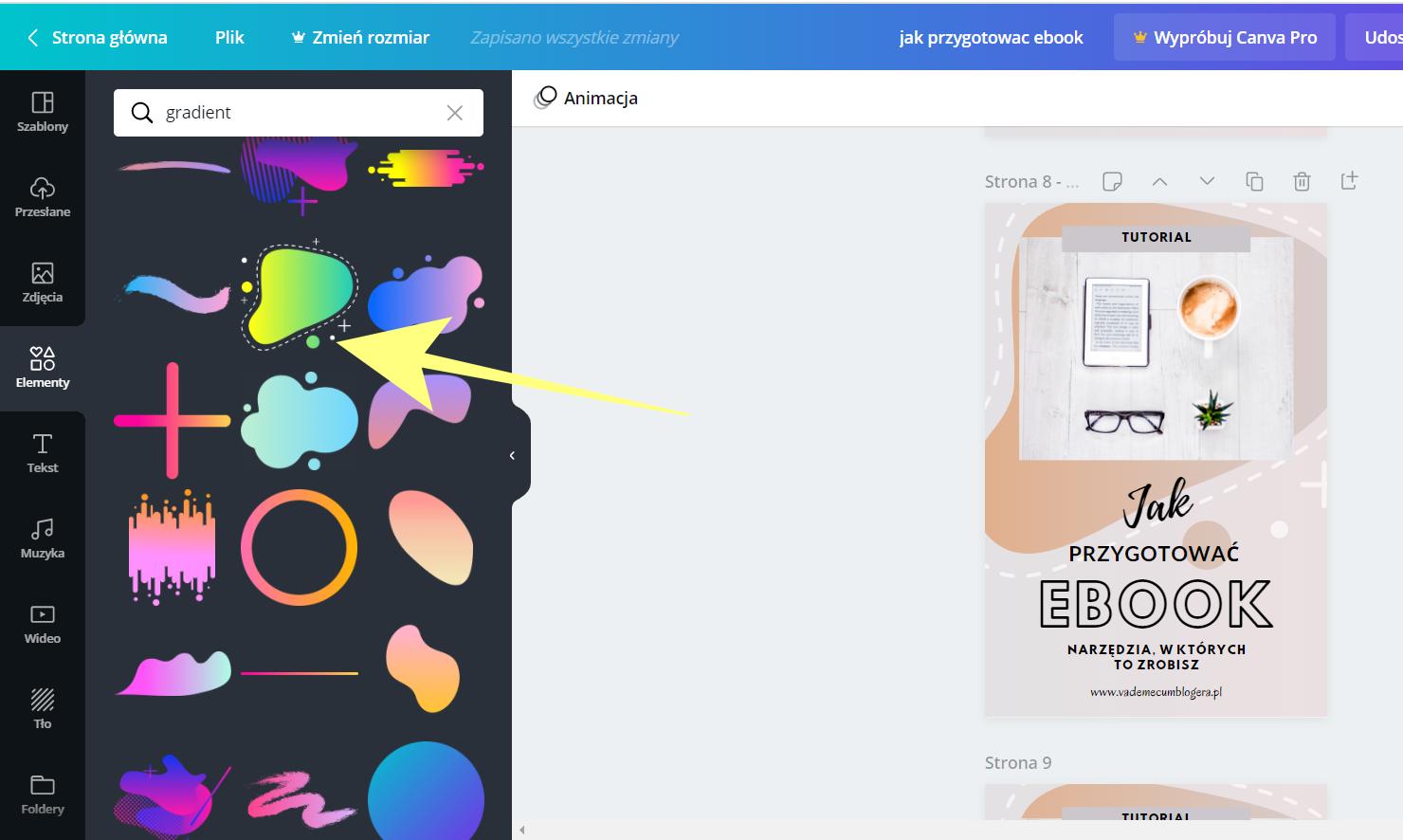 Jak wykorzystać gradient w grafikach?