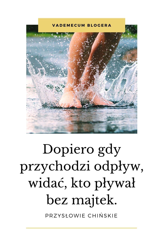 Dopiero gdy przychodzi odpływ, widać, kto pływał bez majtek.