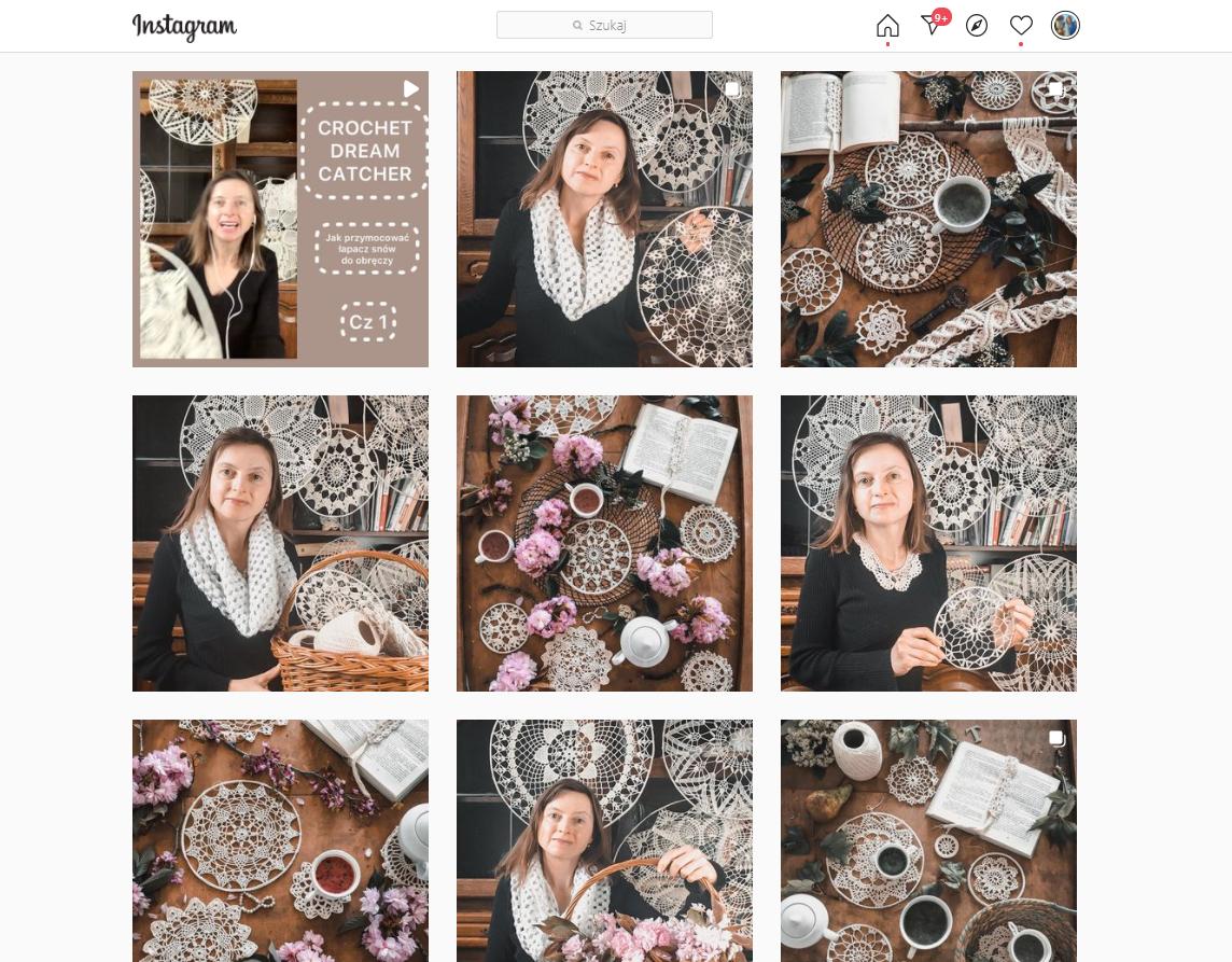 spojny wizualnie profil na Instagramie